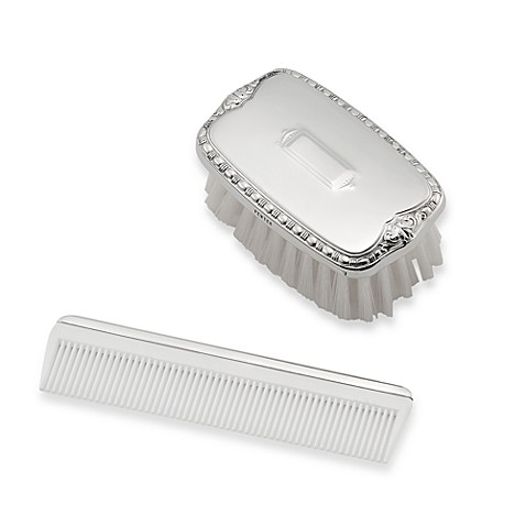 Boy's Military Pewter Brush and Comb Gift Box Set