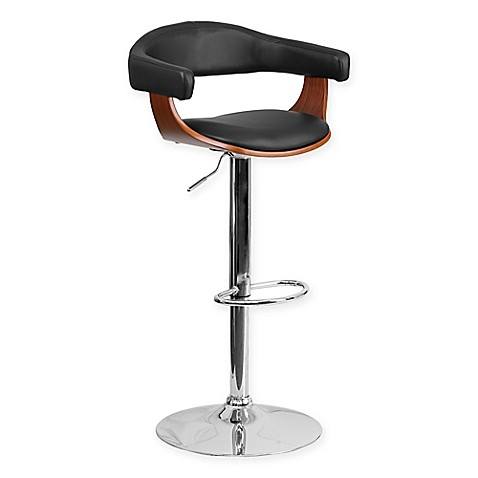 Buy Flash Furniture Bentwood Adjustable Height Barstool In Black Walnut From Bed Bath Beyond