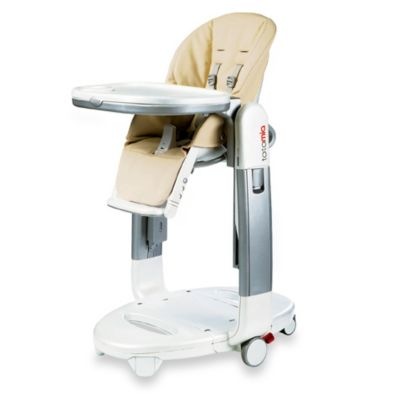 Peg Perego Tatamia Highchair in Tan/White