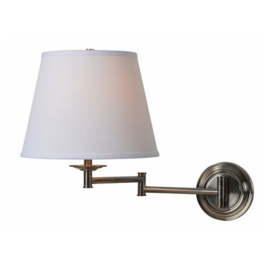 Wall Lamps Bed Bath Beyond : Buy Kenroy Home Architect 1-Light Swing Arm Wall Sconce in Brass from Bed Bath & Beyond