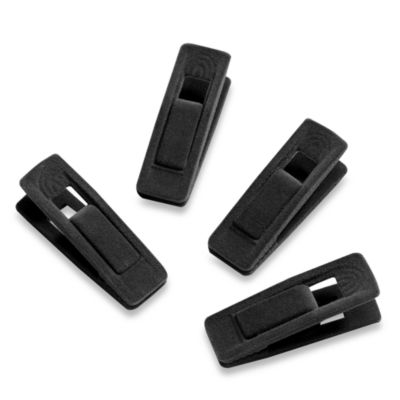 Real Simple® Hanger Clips in Black (Set of 12)