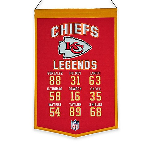 buy nfl kansas city chiefs legends banner from bed bath