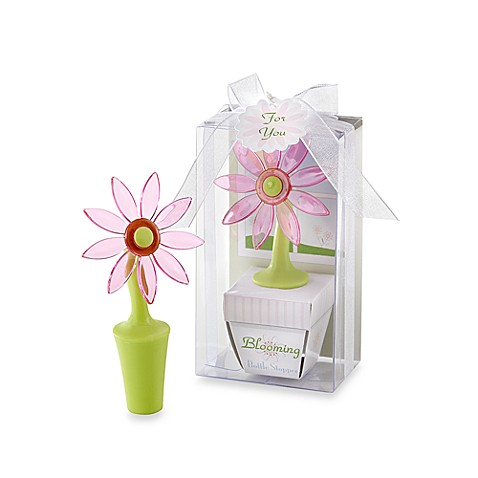 Kate Aspen® Blooming Flower Bottle Stopper Favor in Whimsical Window Gift Box