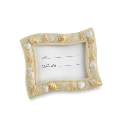 Kate Aspen® Seaside Sand and Shell Place Card Holder Favor