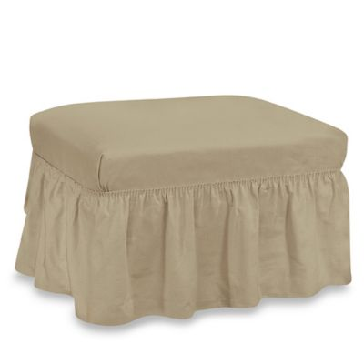 Duck Solid 2-Piece Linen Ottoman by Sure Fit®
