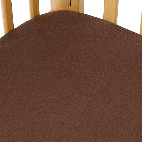 kidsline™ Jersey Knit Portacrib Sheet in Chocolate