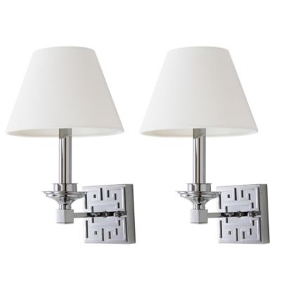 Wall Sconces Bed Bath And Beyond : Buy Safavieh Elvira Wall Sconces in Chrome (Set of 2) from Bed Bath & Beyond