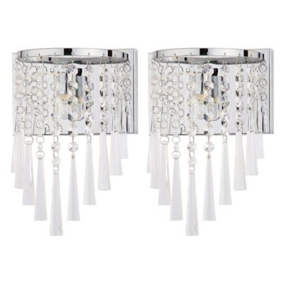 Wall Sconces Bed Bath Beyond : Safavieh Tilly 1-Light Wall Sconce in Chrome/Clear (Set of 2) - Bed Bath & Beyond