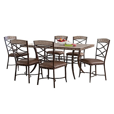 Hillsdale Emmons Rectangle Dining Set In Grey Bed Bath Beyond