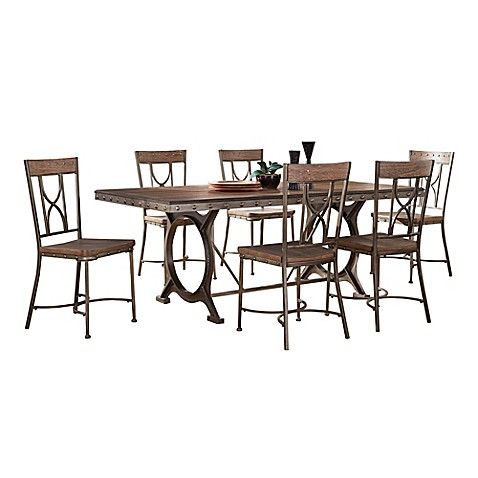 Hillsdale Paddock Dining Set In Grey
