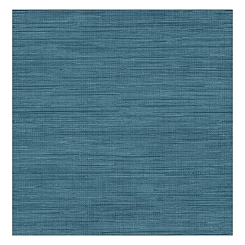 Grasscloth removable wallpaper in sea grass blue bed Temporary grasscloth wallpaper