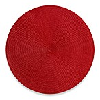 Indoor/Outdoor 15-Inch Round Placemat in Red