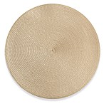 Indoor/Outdoor 15-Inch Round Placemat in Tan