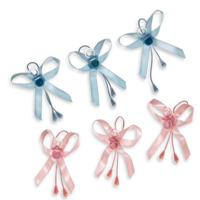 Baby Pacifier Favor Bands (Set of 6) in Blue