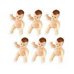 Wilton® Newborn Baby Figurines Favor Accents (Set of 6)
