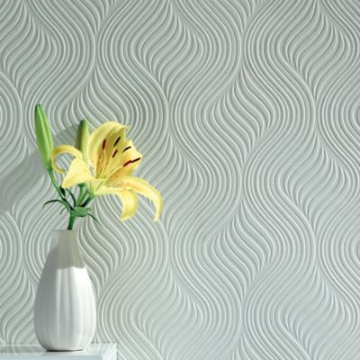 Pure Paintable Wallpaper in White