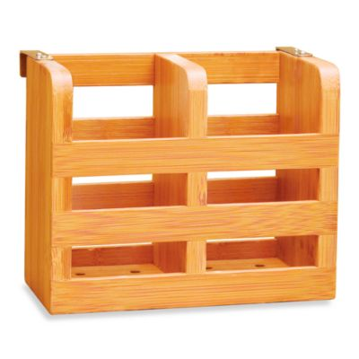 Lipper International Bamboo 2-Compartment Cutlery Holder
