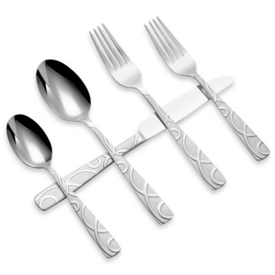 Cambridge® Silversmiths Conquest Sand 45-Piece Flatware Set
