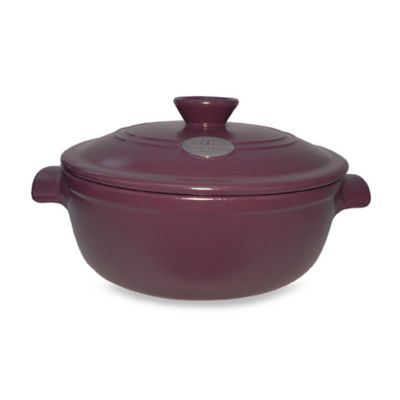 Emile Henry Flame® Top 5 1/2-Quart Covered Casserole in Fig