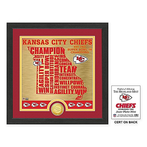 nfl kansas city chiefs quot state quot photo mint bed bath beyond