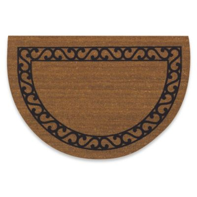 Half Round Irongate 24-Inch x 36-Inch Scroll Door Mat