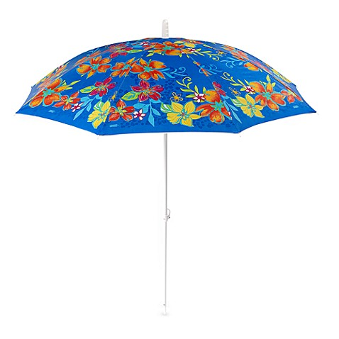 6' Striped Sandblaster Umbrella