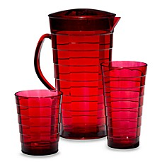 Red Mosaic Acrylic Drinkware
