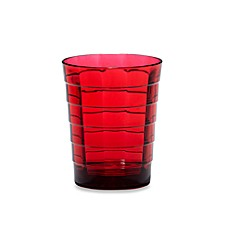 Red Mosaic Acrylic 16-Ounce Double Old Fashioned