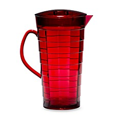 Red Mosaic Acrylic 2 1/3-Quart Pitcher with Lid