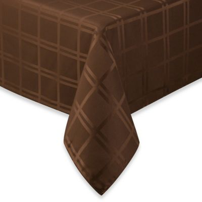 Origins Microfiber Tablecloth - 52-Inch x 70-Inch - Chocolate