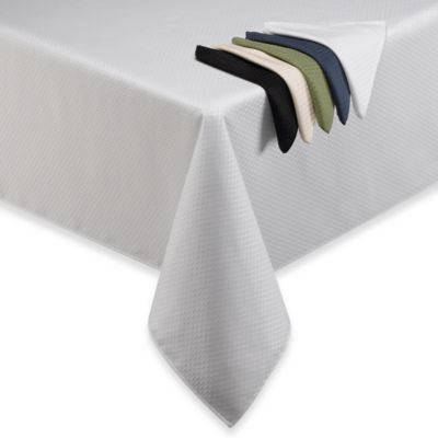 McKenna 52-Inch Square Microfiber Tablecloth in White