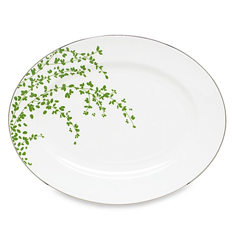 kate spade new york Gardner Street Green 13-Inch Oval Platter