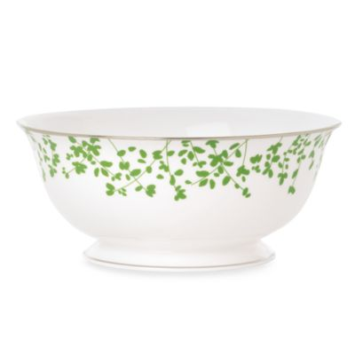 kate spade new york Gardner Street Green 8 1/2-Inch Vegetable Serving Bowl