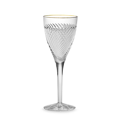 Waterford Arrington Gold Crystal 6-Ounce Wine Glass