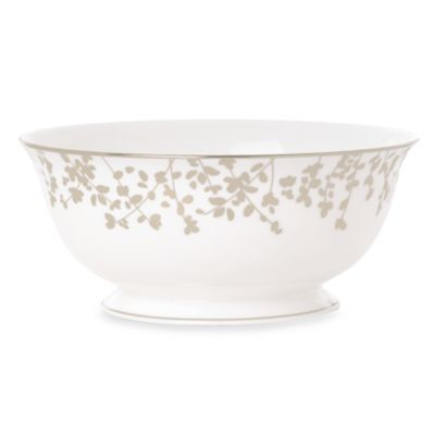 kate spade new york Gardner Street Platinum 8.5-Inch Vegetable Serving Bowl