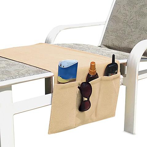 Boca Chaise Lounge Chair Organizer In Linen Bed Bath