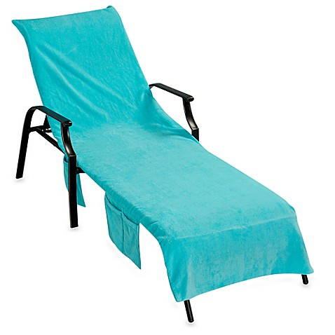 Ultimate chaise lounge cover turquoise bed bath beyond for Beach towel chaise lounge cover