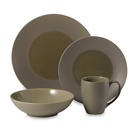 zen khaki 4 piece place setting by sasaki bed bath beyond. Black Bedroom Furniture Sets. Home Design Ideas