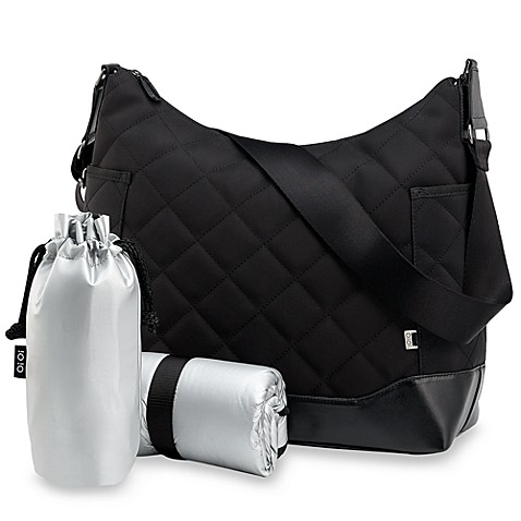 black quilted hobo diaper bag by oioi buybuy baby. Black Bedroom Furniture Sets. Home Design Ideas