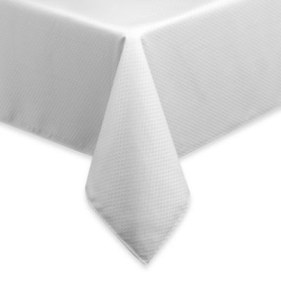 McKenna 52-Inch x 70-Inch Oblong Microfiber Tablecloth in White