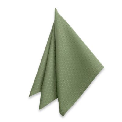 McKenna Microfiber Napkins in Green (Set of 2)