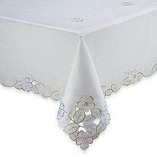 Spring Flower Cutwork Tablecloth