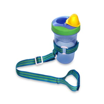 BooginHead® SippiGrip Holder in Blue/Green Stripe