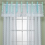 Lots of Dots Blue/Green Window Valance