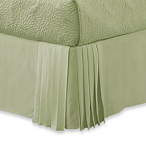 pleated corner california king bed skirt by dkny bed
