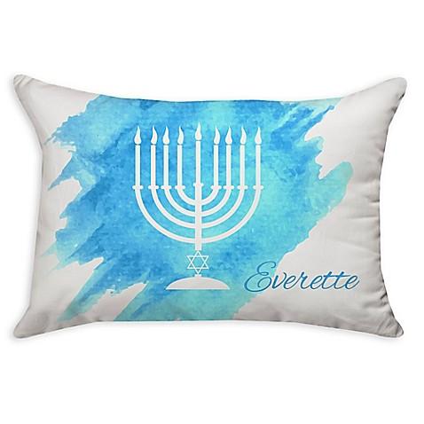 Menorah Oblong Throw Pillow in Blue - Bed Bath & Beyond