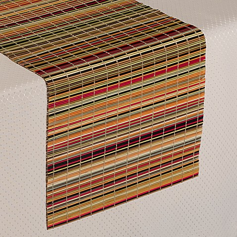 Bamboo Stripe Table Runner Bed Bath Amp Beyond