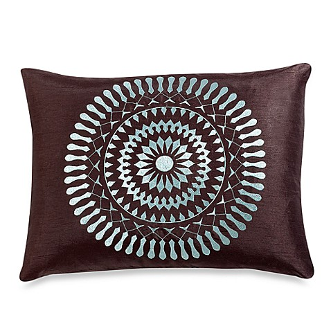 Brown Embroidered Sundial Decorative Oblong Toss Pillow - Bed Bath & Beyond