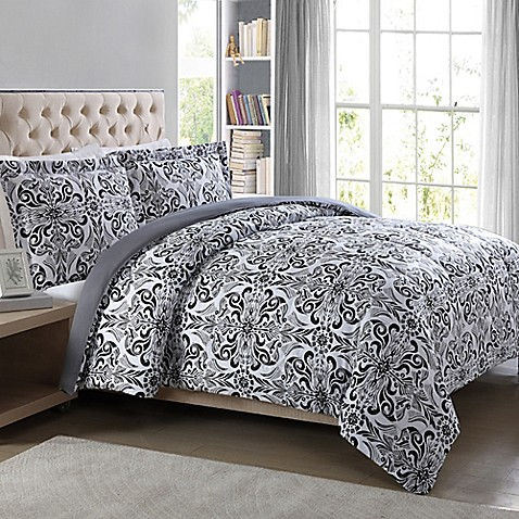 Damask Bedding Classical Black And White