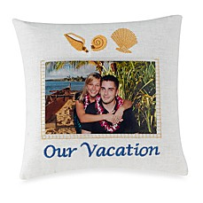 Miniature 4-Inch x 6-Inch Our Vacation Decorative Photo Pillow